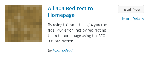 Redirect 404 Error Pages